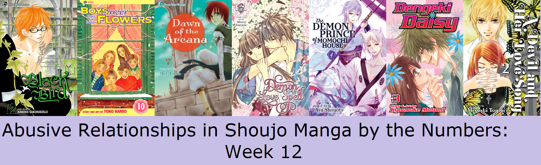 Abusive Relationships in Shoujo Manga by the Numbers: Week